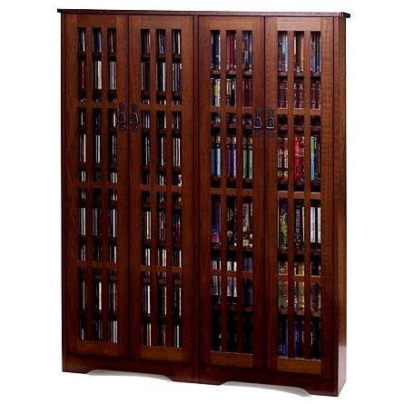 Craftsman Mission 954 CD Walnut Media Cabinet. View Images