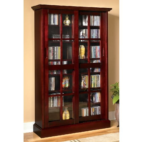 Mission Craftsman Cherry Sliding Door Media Cabinet. View Images