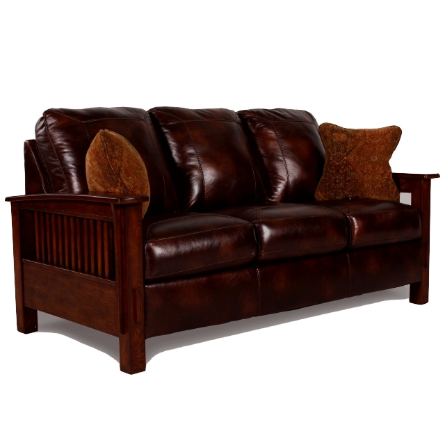 Mission Leather Sofa Mission Stickley Leather Sofa Thesofa