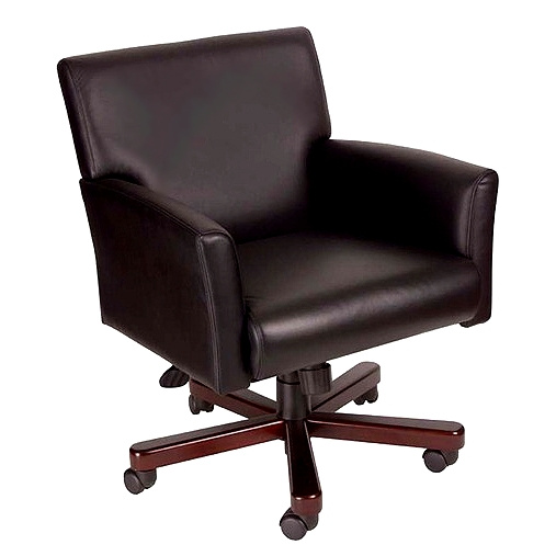 Mission Leather U0026 Mahogany Office Chair $259.00