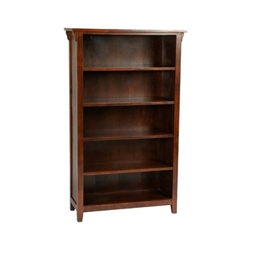 mission cherry office bookcase