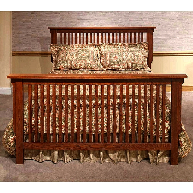 Bedroom furniture mission furniture craftsman furniture for Queen mission style bedroom set