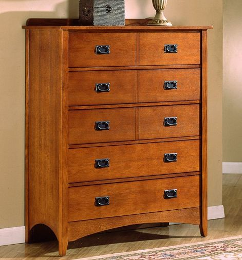 Mission Craftsman Oak  Drawer Dresser View Images