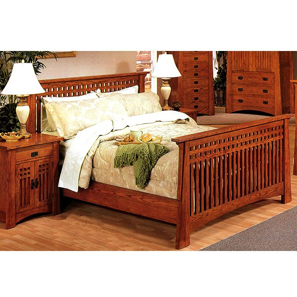 Wood pallet patio furniture plans open bath vanity plans for Mission style bed plans