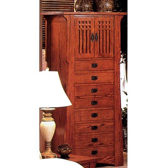 quarter sawn oak mission craftsman lingerie chest view images