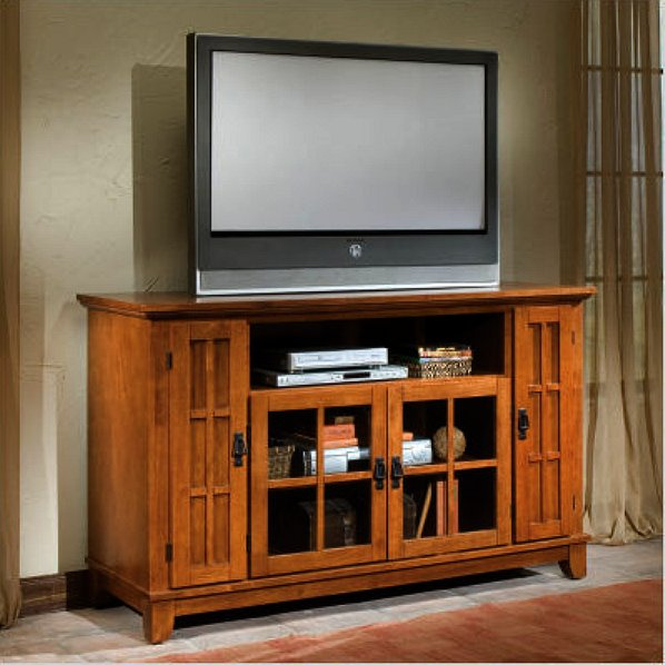 mission craftsman oak entertainment center used corner centers flat screen tvs unit with glass doors