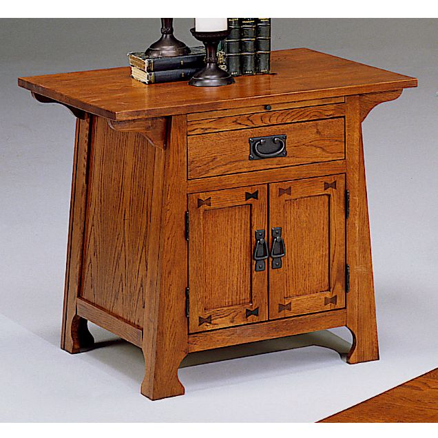 Plans for wooden night stand mission oak coffee table set for Craftsman furniture plans