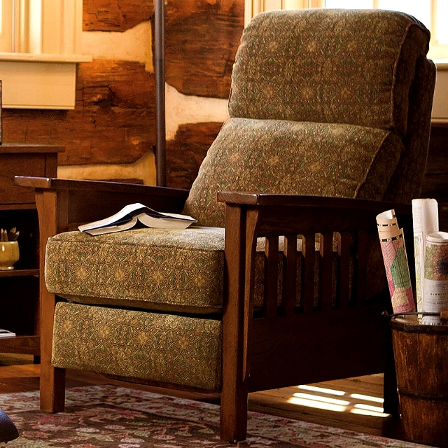 Mission Craftsman Upholstered Morris Recliner. View Images : upholstered recliners chairs - islam-shia.org