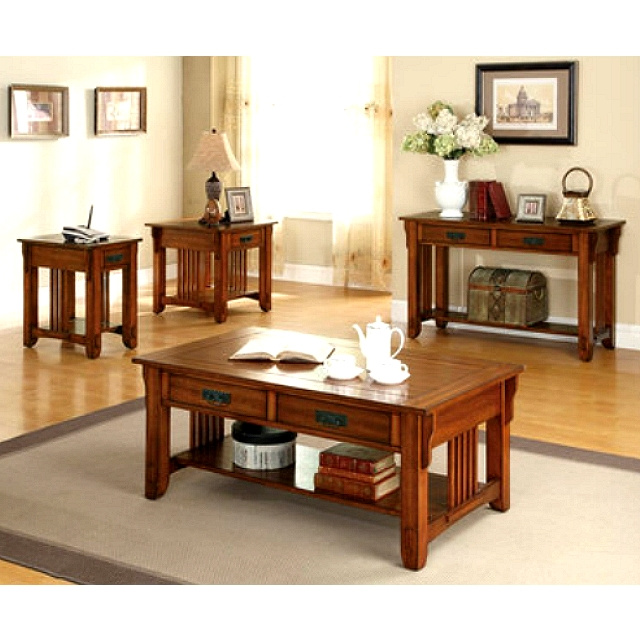 Mission Furniture - Living Room > Oak Hardwood Mission Style Side...