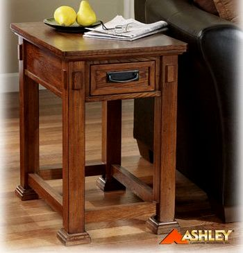 Craftsman Mission Style Oak Side End Table. View Images