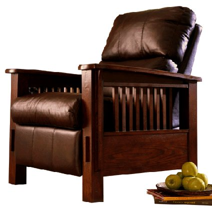 Mission Craftsman Leather Morris Recliner. View Images  sc 1 st  Living Room Furniture | Mission Furniture | Craftsman Furniture : leather chairs recliner - islam-shia.org