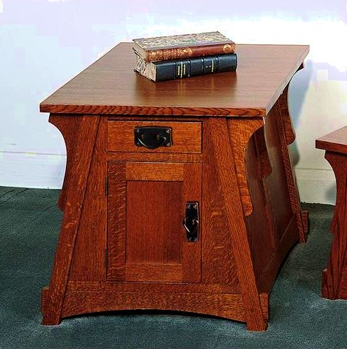 Quarter Sawn Oak Mission Craftsman Side End Table. View Images