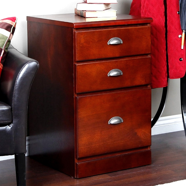 Mission Craftsman Shaker Cherry 3 Drawer File Cabinet. View Images
