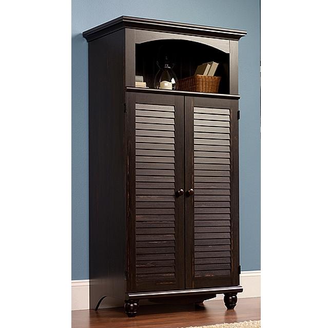 Antiqued Black Computer Armoire $449.00