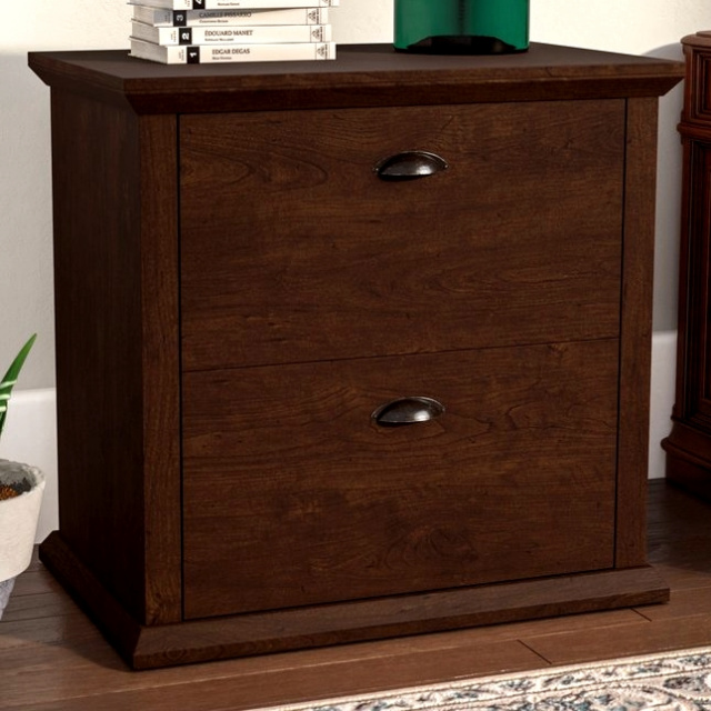 Superior Mission Craftsman Antique Cherry Lateral File Cabinet $349.00