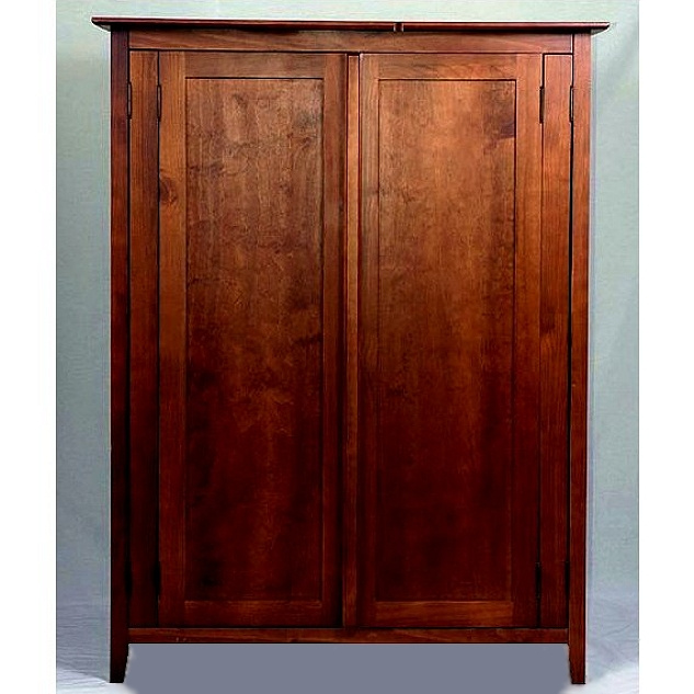 mission shaker craftsman mahogany computer armoire view images