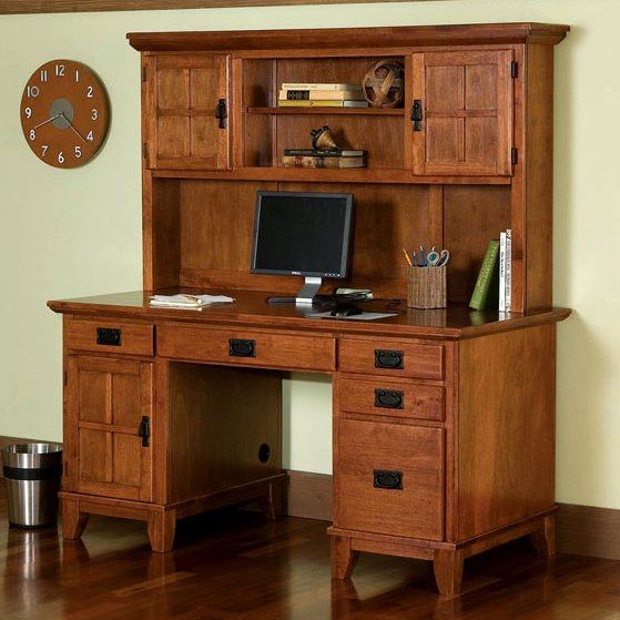 Stunning 30 mission style office furniture design ideas for Craftsman style desk plans