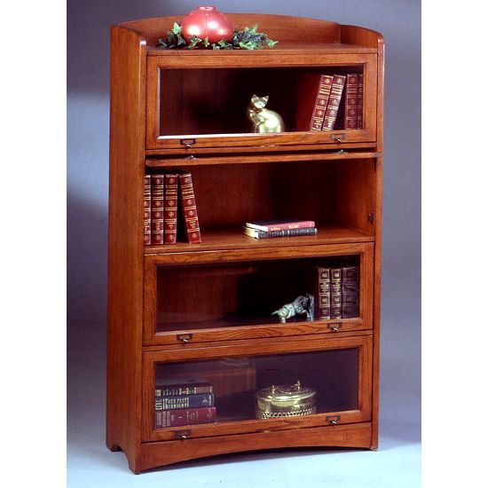 mission craftsman oak 4 shelf barrister bookcase view images