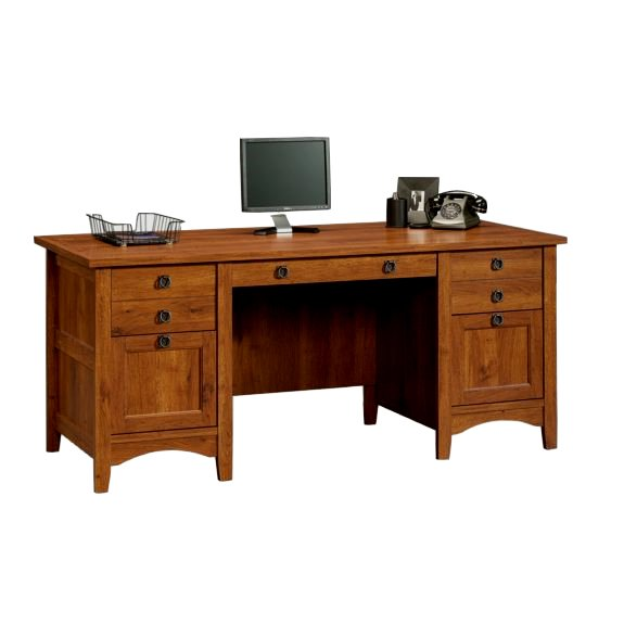 Mission style office desk office furniture mission for Craftsman style office