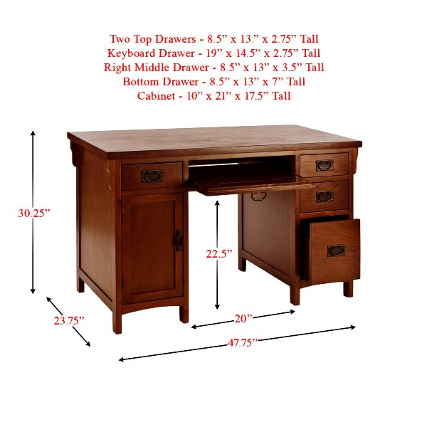 Computer Desk Dimensions Inches Hostgarcia