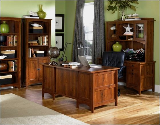 Office furniture mission furniture craftsman furniture for Craftsman style office