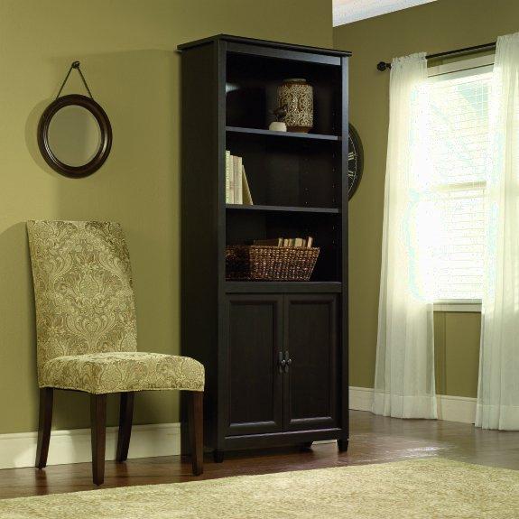 Warm Black Shaker Bookcase W/Doors $249.00