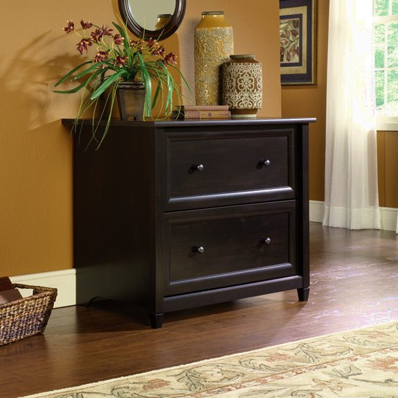 Warm Black Shaker Lateral File Cabinet. View Images