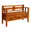 Craftsman Style 3-Drawer Storage Bench