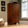 Cherry Craftsman Mission Armoire w/Wrought Iron