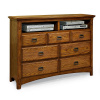 Mission Craftsman Oak 7 Drawer Dresser