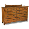 Mission Craftsman Oak 8 Drawer Dresser
