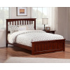 Mission Shaker Walnut Platform Queen Bed