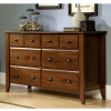 Rustic Oak Shaker 6 Drawer Dresser