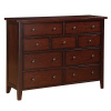 Shaker Mission Cherry 9 Drawer Dresser