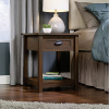 Walnut Craftsman Mission Shaker 1 Drawer Nightstand