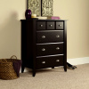 Espresso Shaker 4 Drawer Dresser Chest