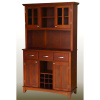 Large Mission Craftsman Shaker Cherry Buffet w/Hutch