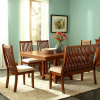 Mission Shaker Oak 6pc Dining Set