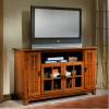 Mission Shaker Oak Entertainment Center Console