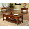 3pc Mission Oak Coffee & Side Table Set