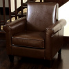 Chocolate Brown Leather Club Chair
