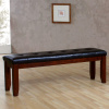 Mission Arts & Crafts Leather Bench 60""