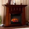 Mission Craftsman Espresso Electric Fireplace