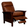 Mission Craftsman Leather Morris Style Recliner
