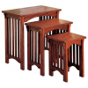 Mission Craftsman Oak 3pc Nesting Table Set