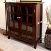Tobacco Mission Craftsman Solid Pine Bookcase Cabinet