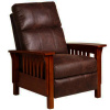 Mission Leather Morris Recliner Chair
