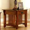 Oak Hardwood Mission Style End Table