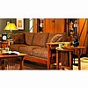 Mission Craftsman Oak Microfiber Sofa