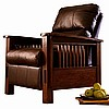 Mission Craftsman Leather Morris Recliner